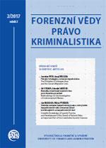 Forenzní vědy, právo, kriminalistika