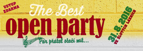 Přijďte na Open Party 2016